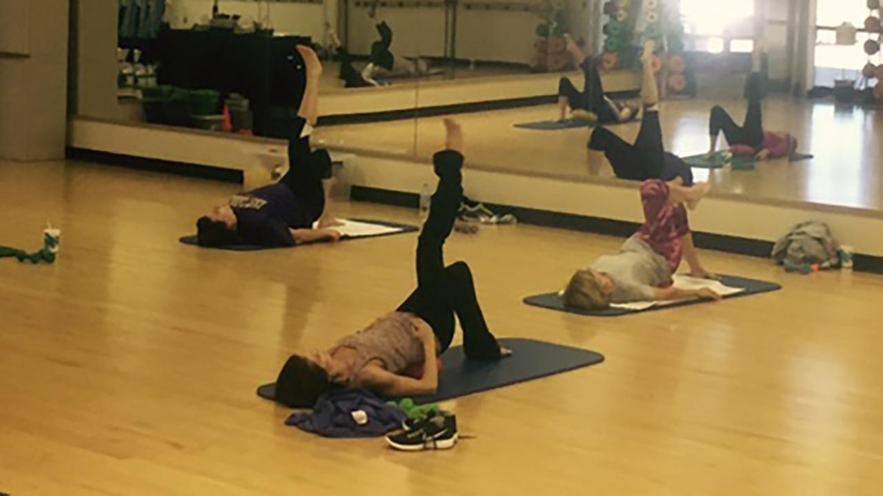 Barre fitness class
