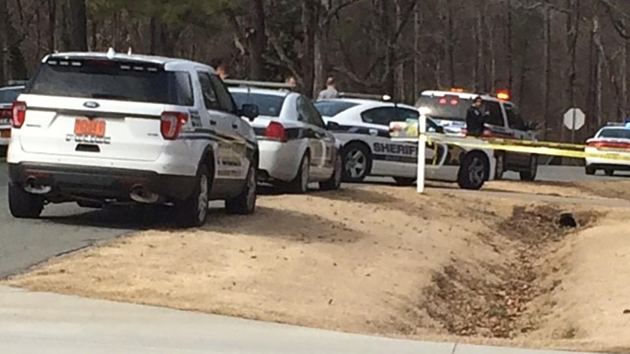 Law enforcement on the scene in Wake County