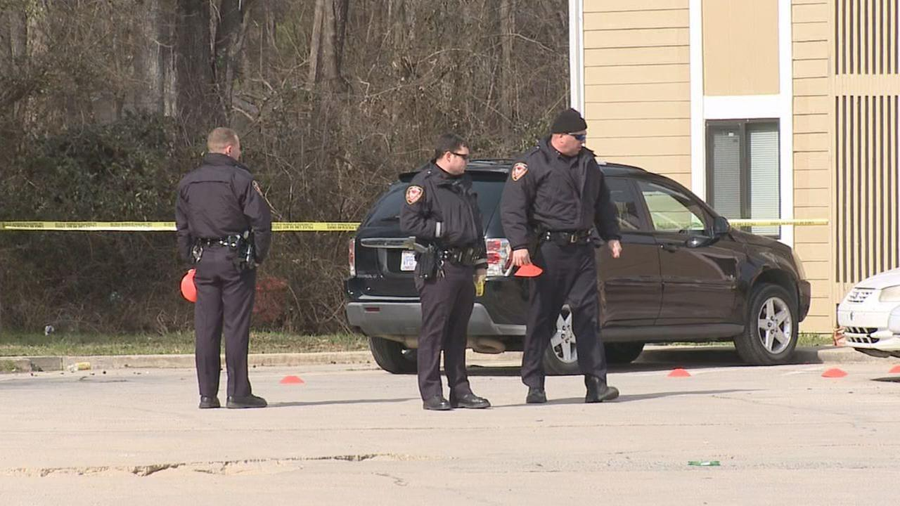 Photo from the scene of a shooting on Atka Court