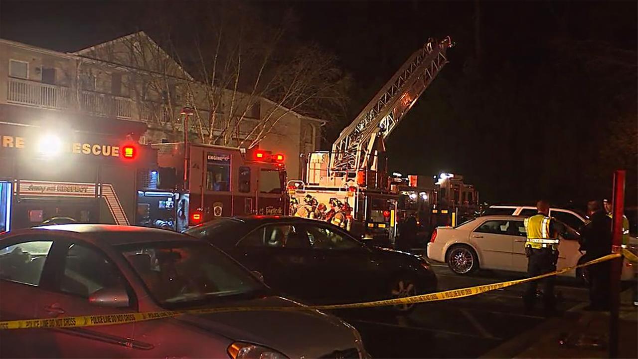 Fire at Carlson Bay Apartments.