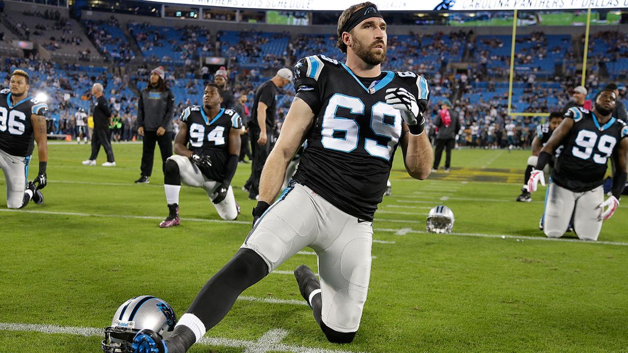Carolina Panthers defensive end Jared Allen