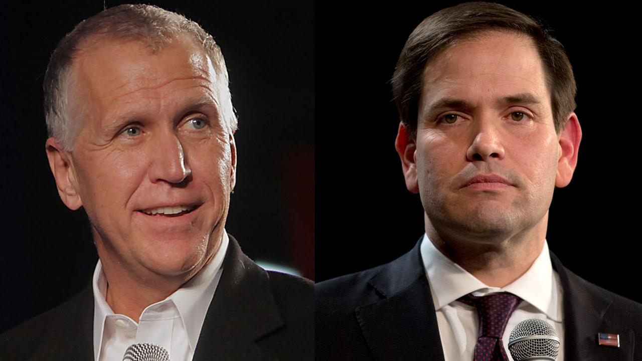 North Carolina Sen. Thom Tillis endorsed Senate colleague Marco Rubio in the 2016 Republican presidential campaign