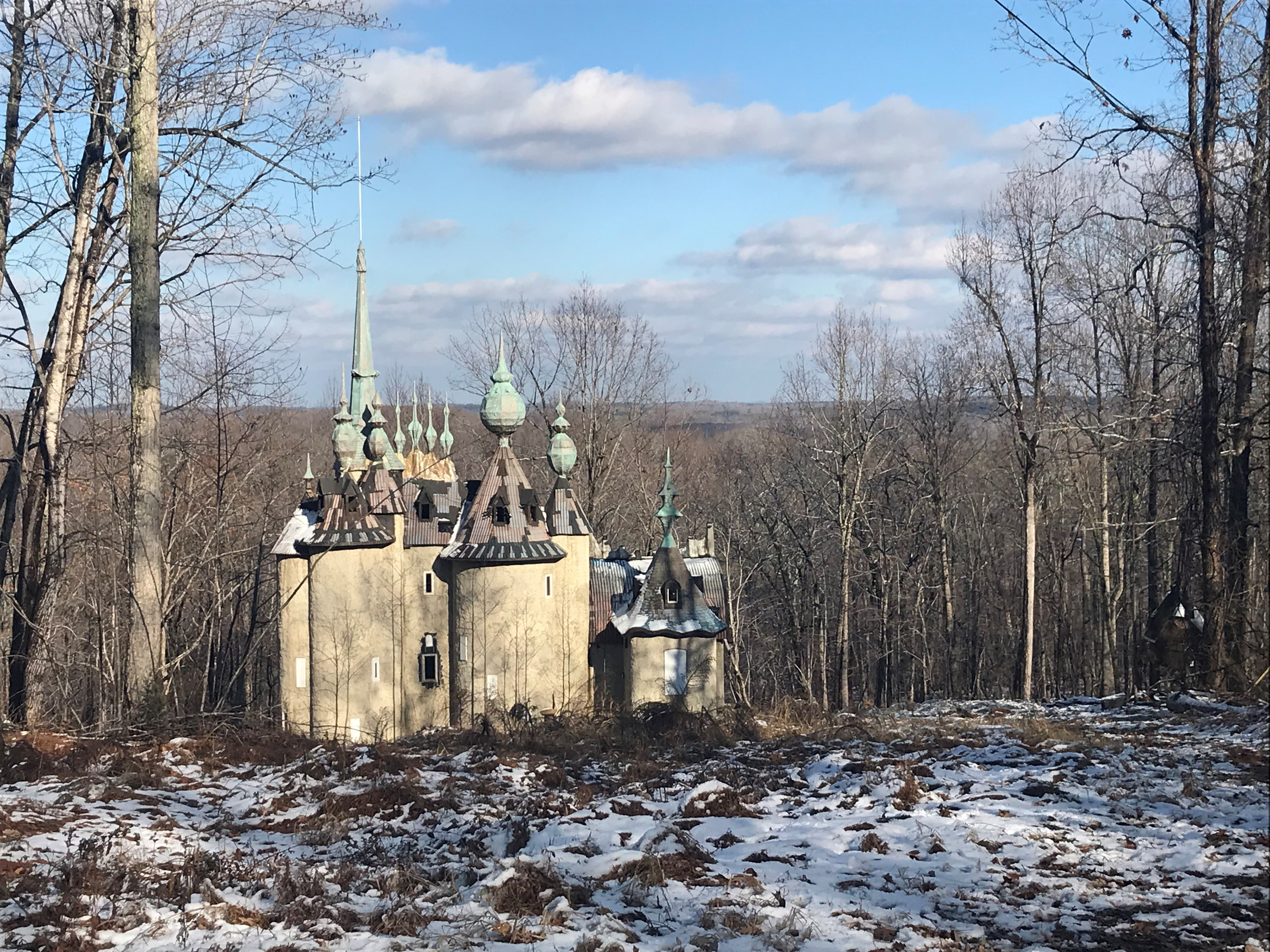 <div class='meta'><div class='origin-logo' data-origin='none'></div><span class='caption-text' data-credit='ABC11 Reporter Elaina Athans'>It's a dramatic home that offers a taste of Russia in Rougemont. There are turrets. Pinnacles and spires pierce through the sky.</span></div>