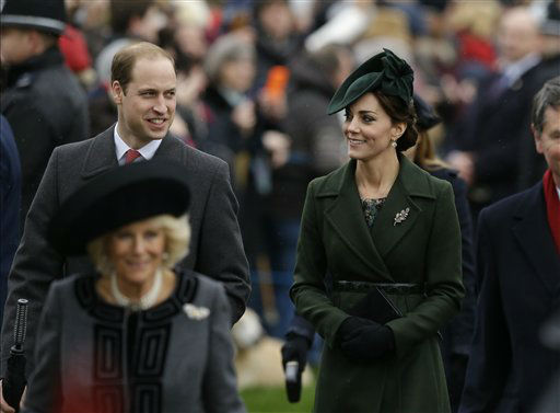 """<div class=""""meta image-caption""""><div class=""""origin-logo origin-image none""""><span>none</span></div><span class=""""caption-text"""">Britain's Prince William and Kate the Duchess of Cambridge arrive with family members to attend Christmas Day church service at St. Mary Magdalene Church in Sandringham, England.  (AP Photo/ Matt Dunham)</span></div>"""