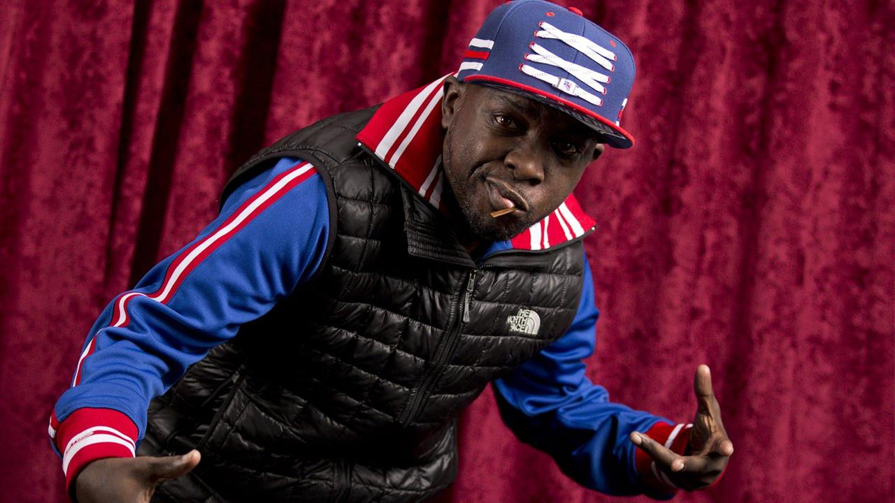 Malik Isaac Taylor, aka Phife Dawg, of A Tribe Called Quest poses at Sirius XM studios on Nov. 12, 2015, in New York.