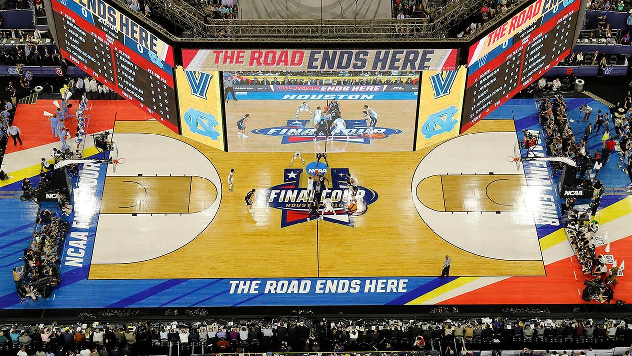 Images from the NCAA championship game between North Carolina and Villanova at NRG Stadium in Houston.AP