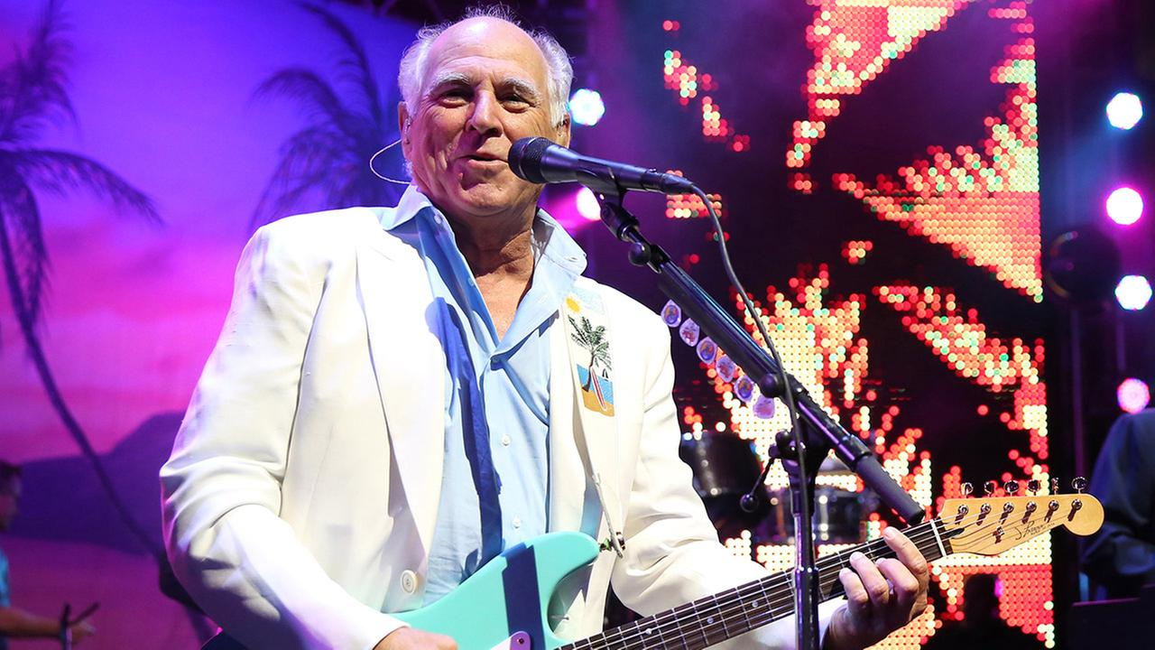 In this June 9, 2015 file photo, Jimmy Buffett performs at the after party for the premiere of Jurassic World in Los Angeles.