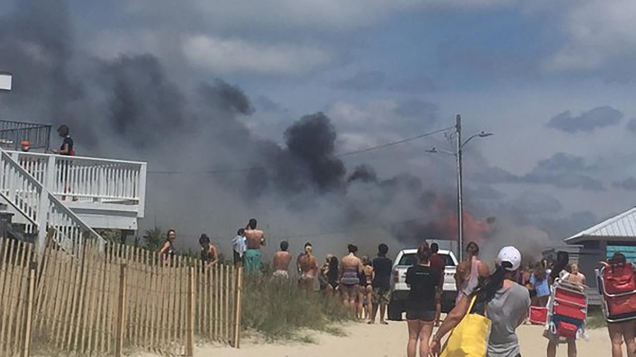 Fire at Wrightsville Beach