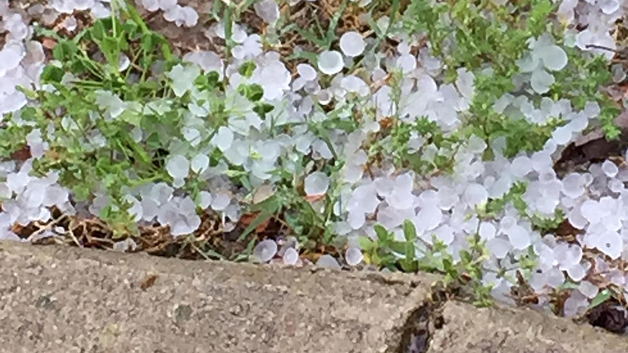 Hail accumulates in Sanford.ABC11 Eyewitness