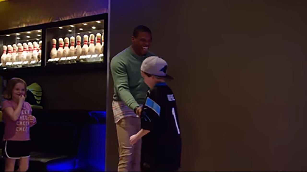 Cam Newton makes 11-year-old Noah's wish come true