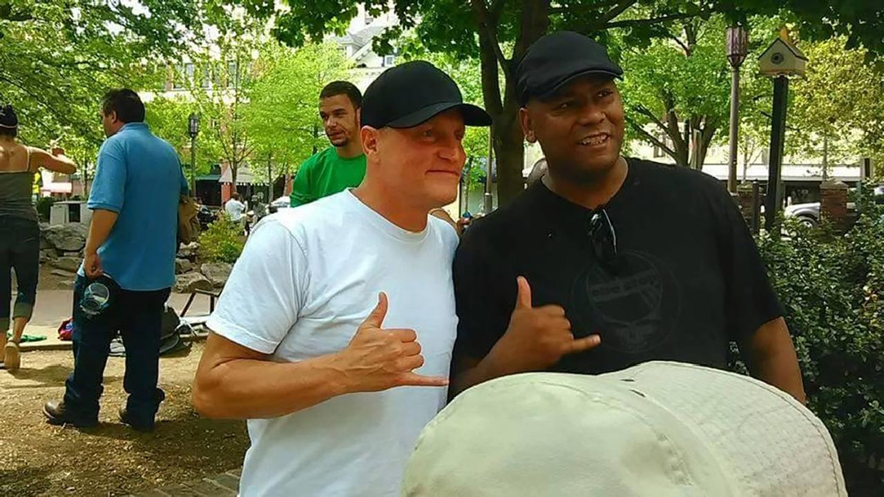 Woody Harrelson visiting downtown Asheville