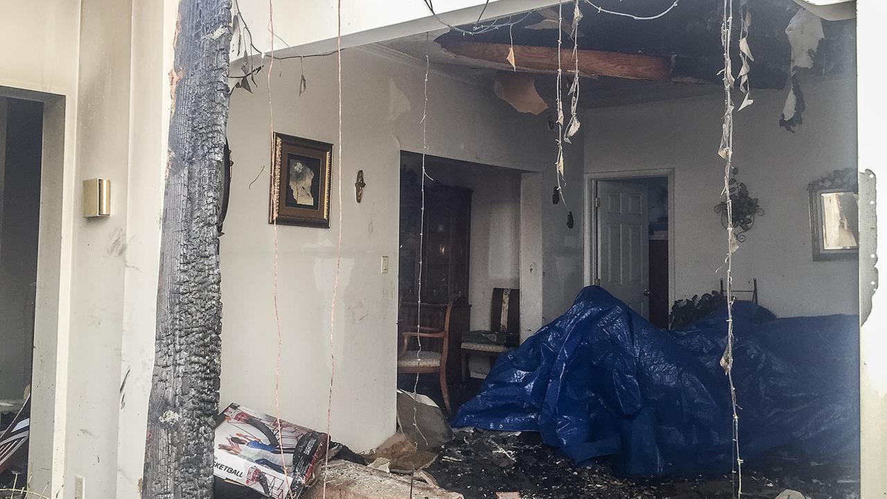 Inside the home after the fire.