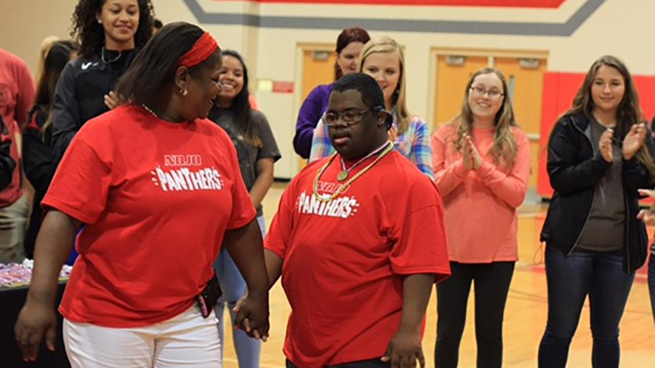 Students at North Johnston High School enjoy the Special Olympics