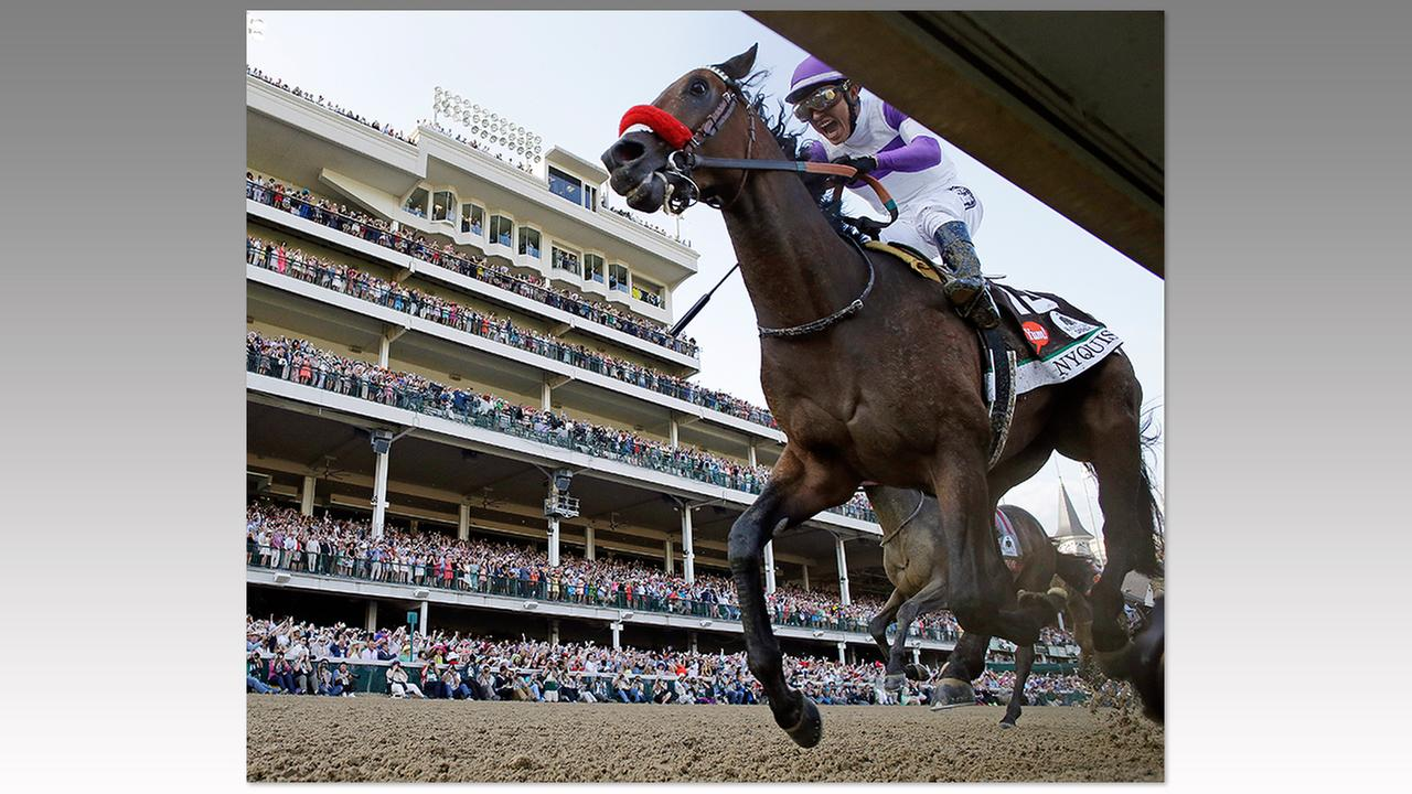Mario Gutierrez rides Nyquist to victory during the 142nd running of the Kentucky Derby horse race at Churchill Downs, Saturday, May 7, 2016, in Louisville, Ky.David J. Phillip