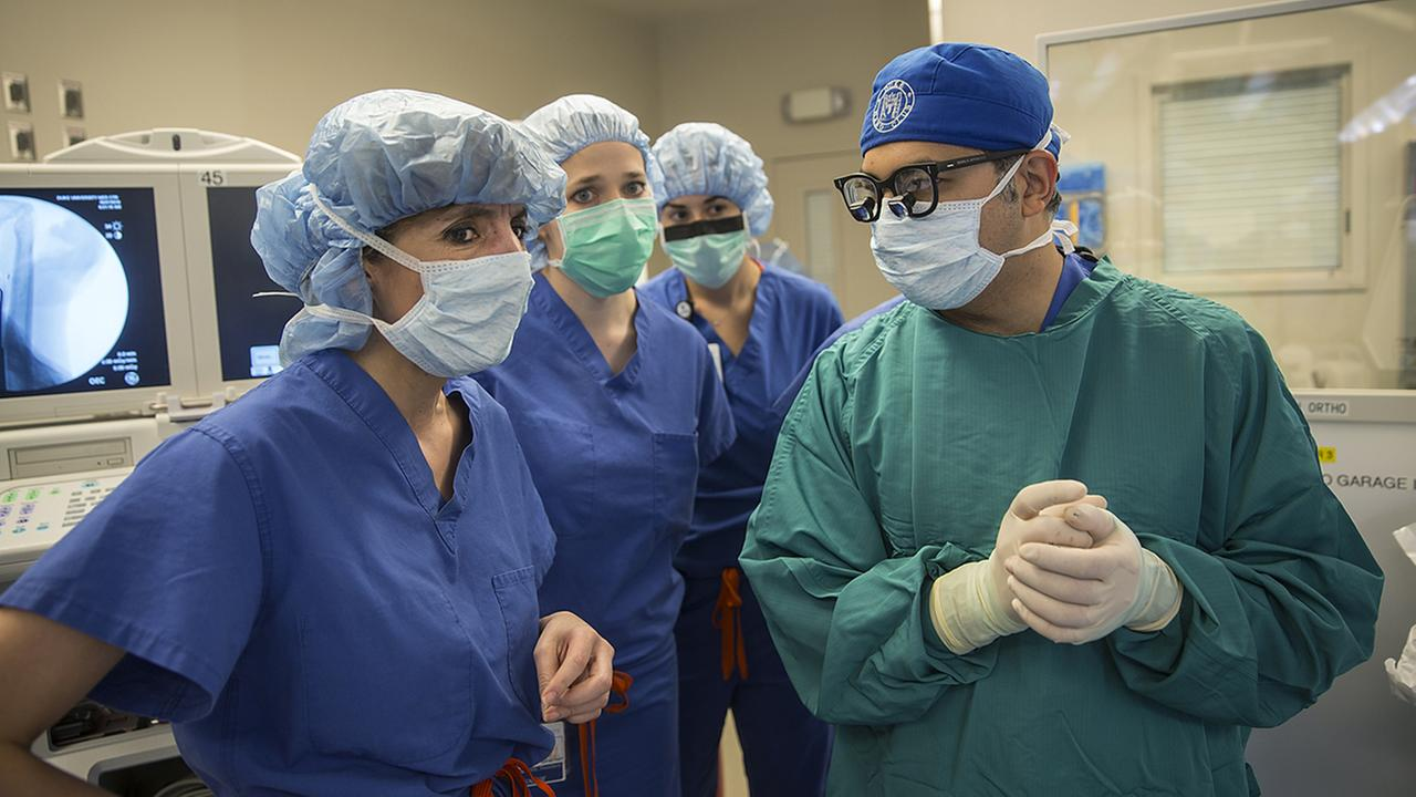 Dukes first hand transplant is performed May 27, 2016. Led by surgeon Dr. Linda Cendales, two teams worked to attach a donor hand and forearm onto the left arm of Rene Chavez, 54.Shawn Rocco/Duke Health