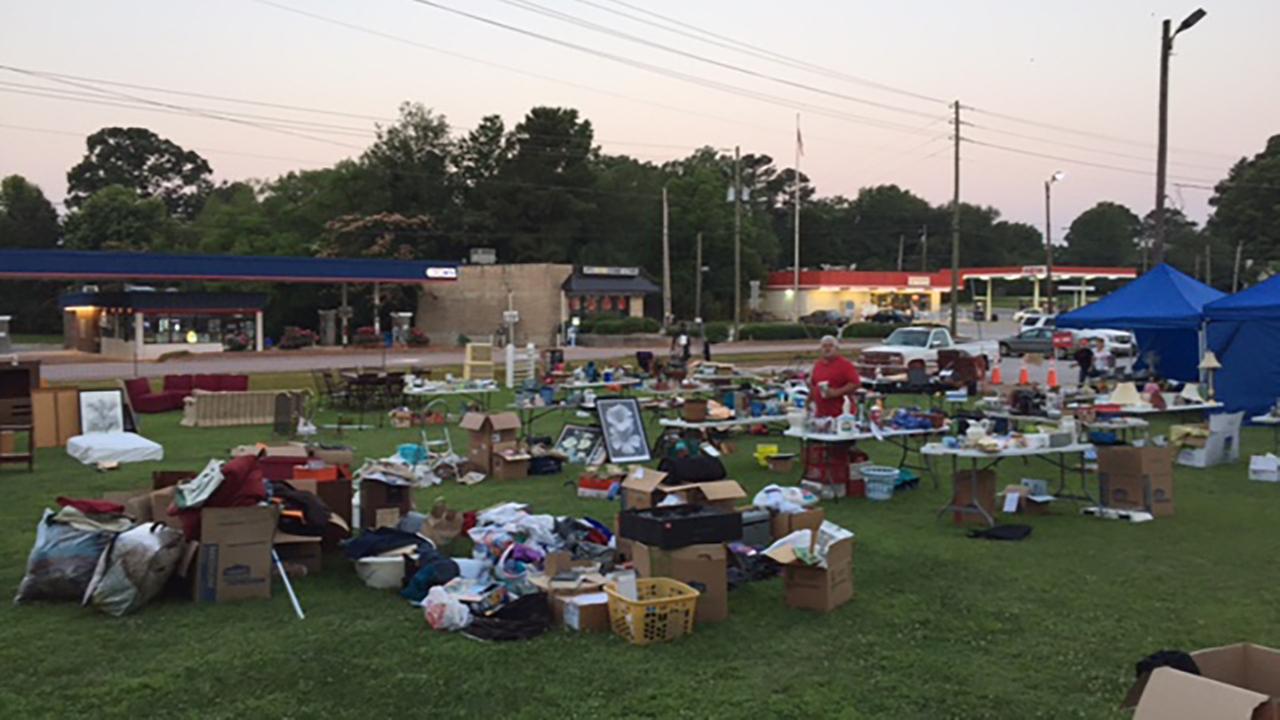 Apex Police Department yard sale