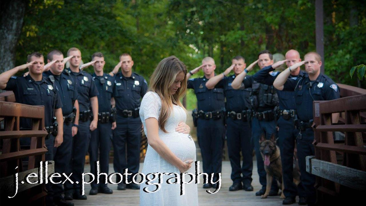 Officers salute wife of fallen colleague
