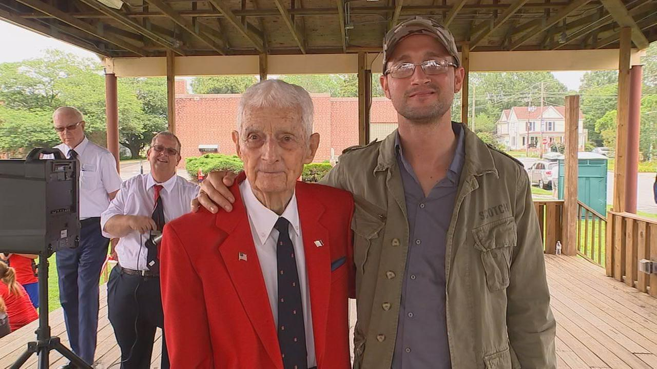 WWII veteran Bennie Howard Jr. and Italian man Jury Galli