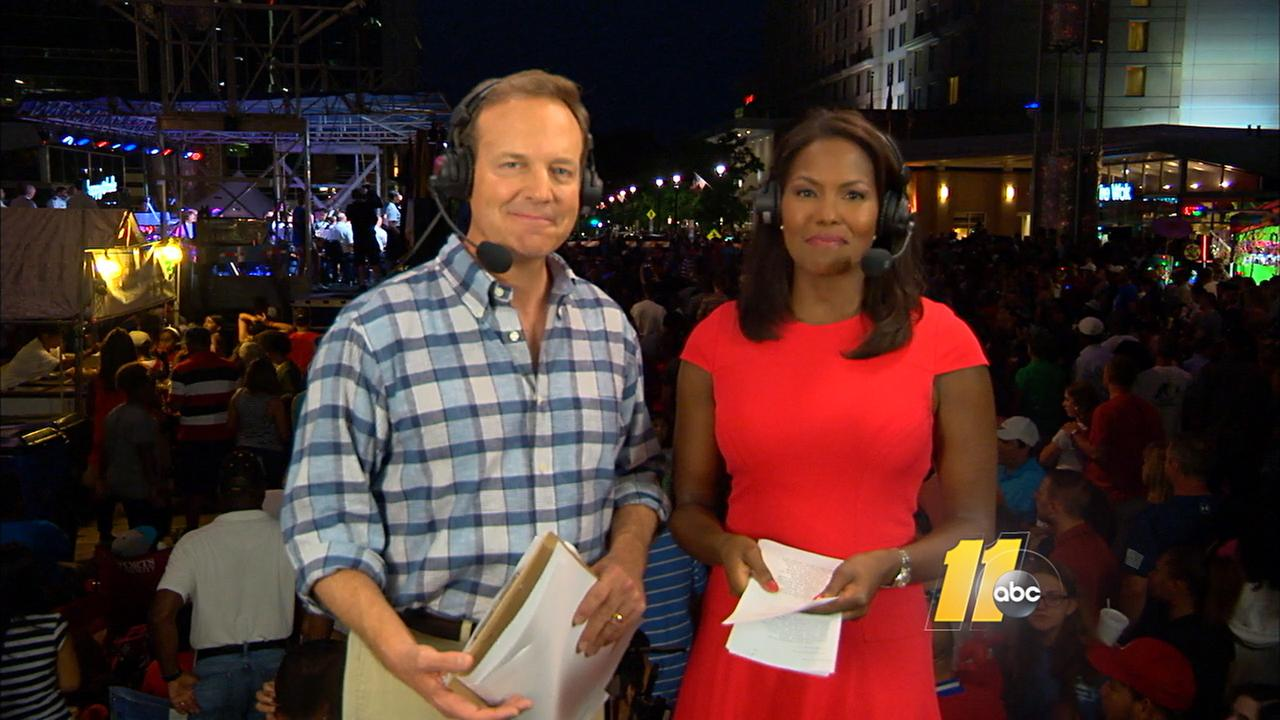 ABC11s Steve Daniels and Tisha Powell anchored the festivities at The Works in downtown Raleigh.