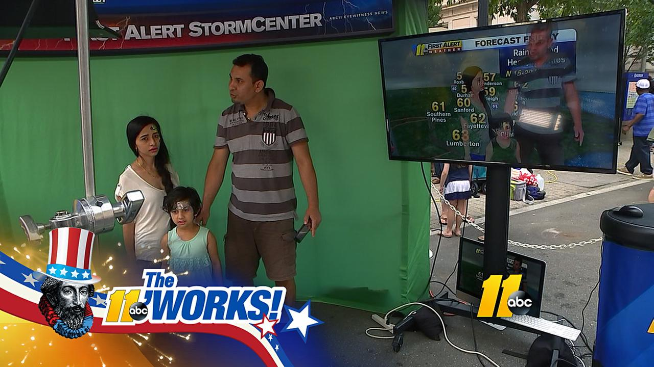 Fun at the ABC11 Popup Studio at The Works in downtown Raleigh.