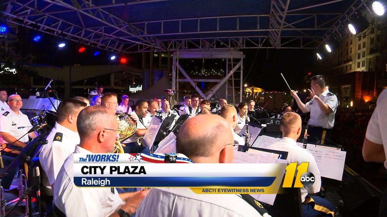 Musical entertainment at City Plaza in downtown Raleigh.