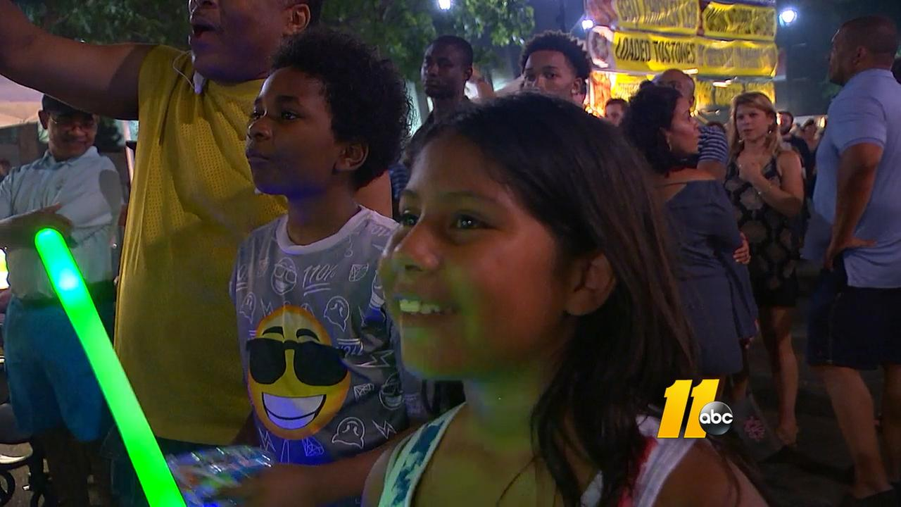 Fun at The Works celebration in downtown Raleigh.WTVD