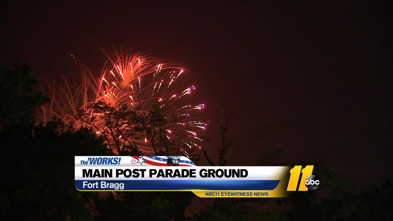 Fireworks display at Fort Bragg.WTVD