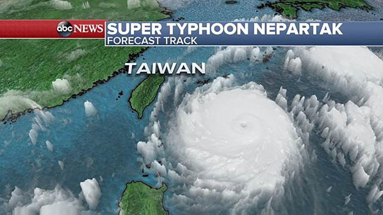 Super Typhoon Nepartak forecast to batter Taiwan