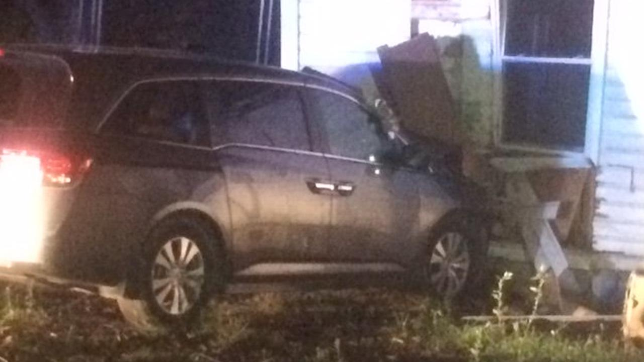 14-year-olds crash van into house in NC after chase