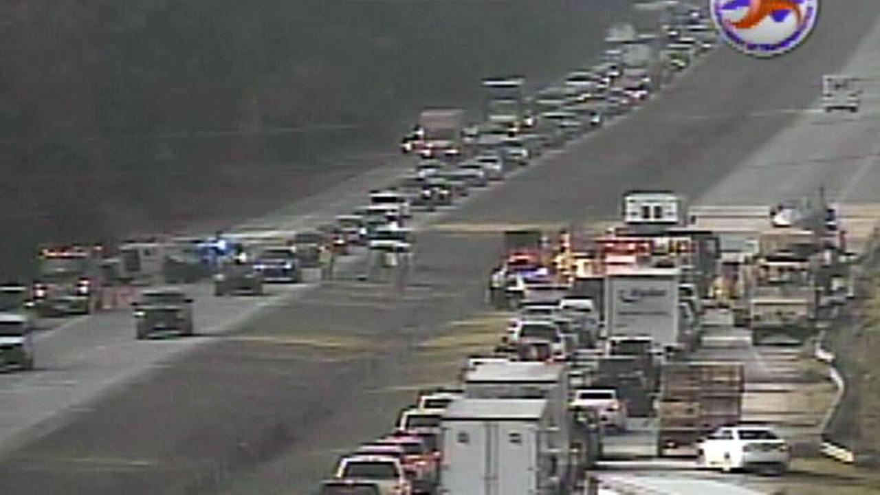 DOT image of accident along I-40 in Johnston County Friday morning
