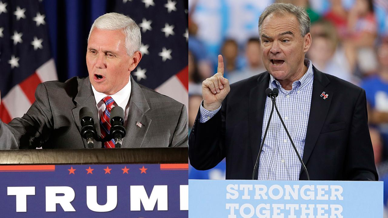 Mike Pence (left) and Tim Kaine (right)