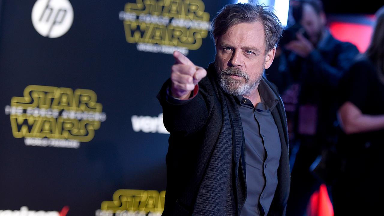 Mark Hamill arrives at the world premiere of Star Wars: The Force Awakens at the TCL Chinese Theatre on Monday, Dec. 14, 2015, in Los Angeles.