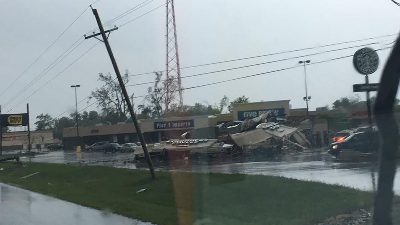 Starbucks in Kokomo, Ind. after a tornado touched down