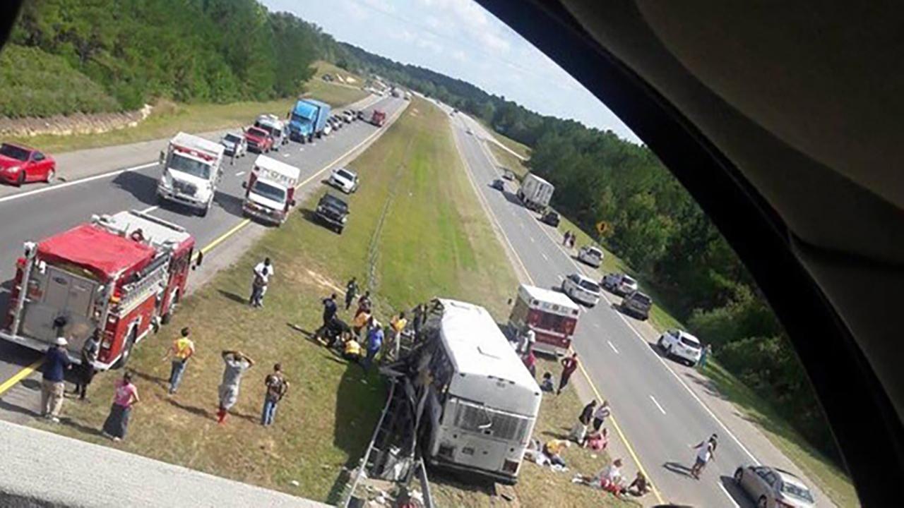 4 dead in North Carolina crash involving bus carrying football team