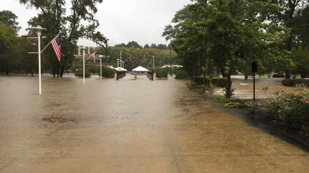 Floods strike the Fayetteville/Hope Mills region.image courtesy City of Fayetteville