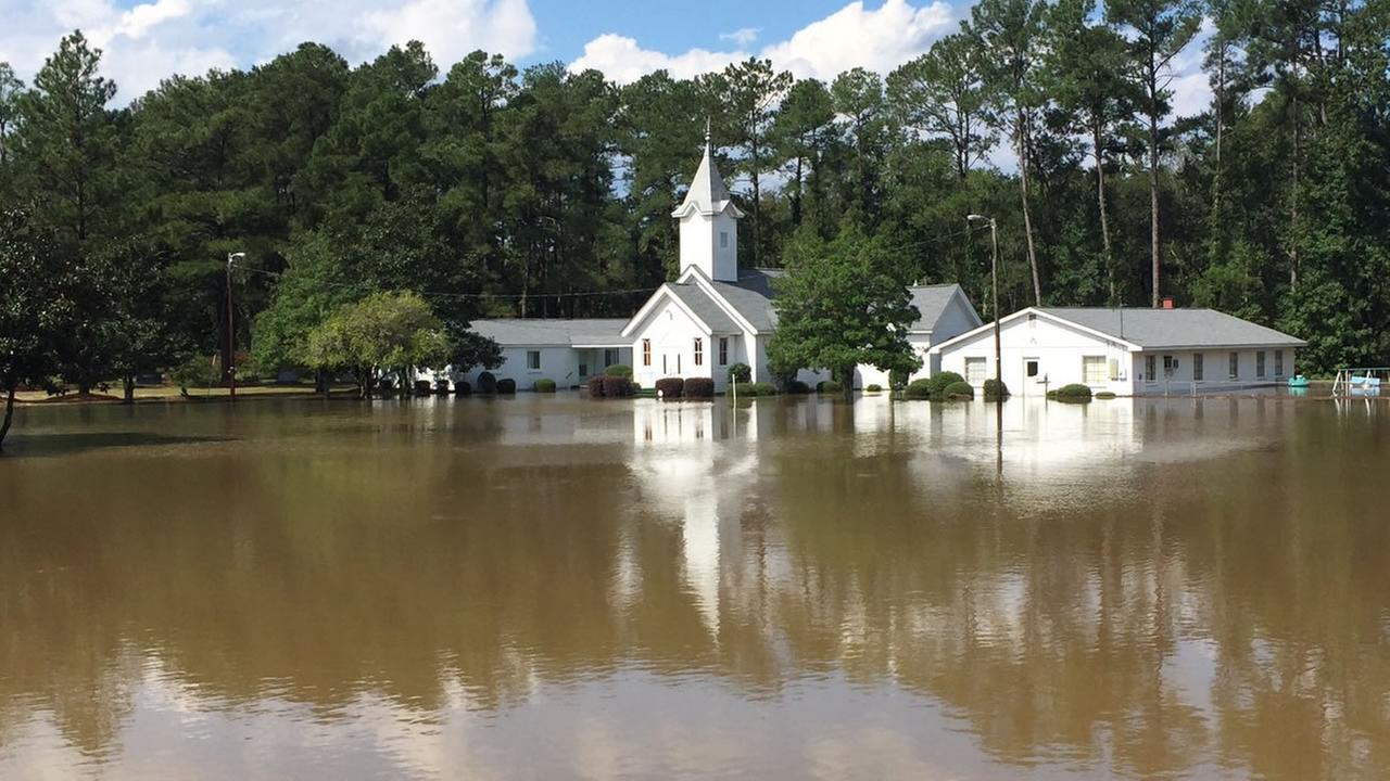 Flooding strikes central North Carolina