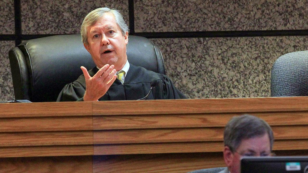 Judge Edgar Long presides over a hearing of a 14-year old, who was charged as a juvenile Friday, Sept. 30, 2016 in Anderson, S.C., with murder and three counts of attempted murder