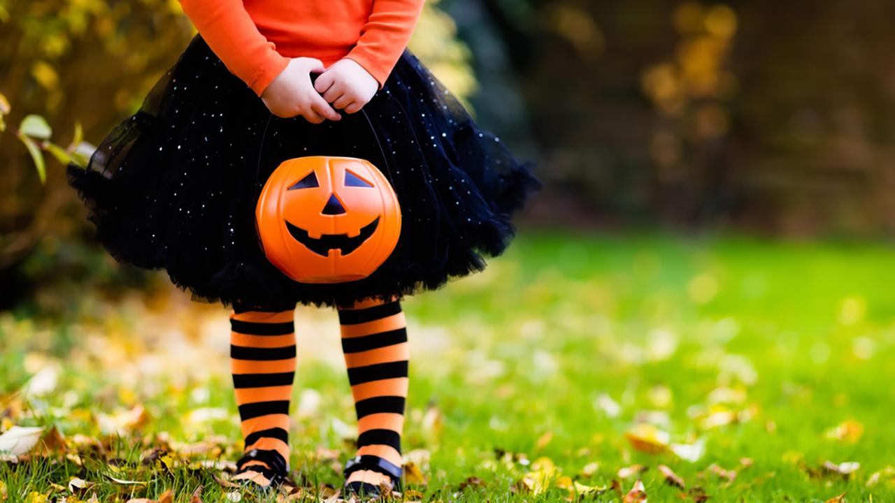 Stock photo of a child in a Halloween costume