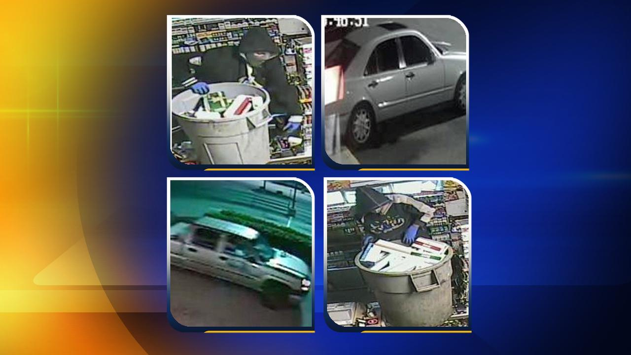 Surveillance photos from robberies at Raleigh tobacco stores