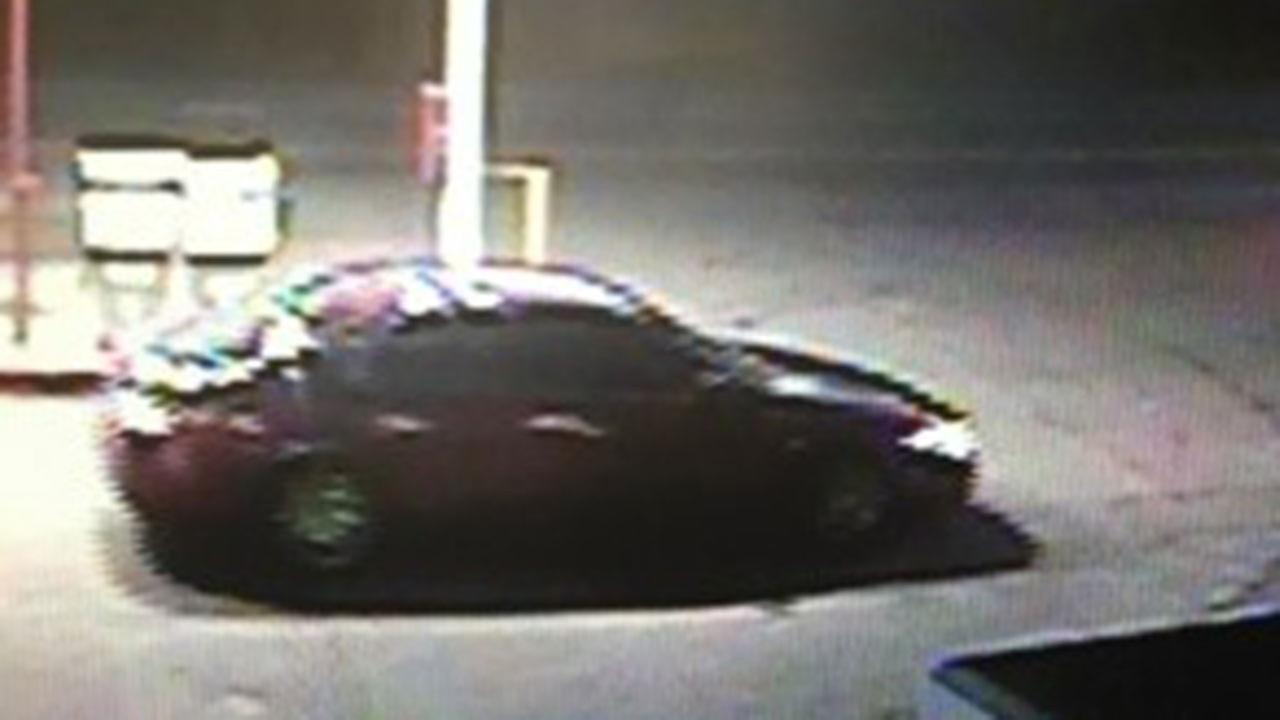 Surveillance image of a burgundy vehicle possibly linked to Thursdays shooting
