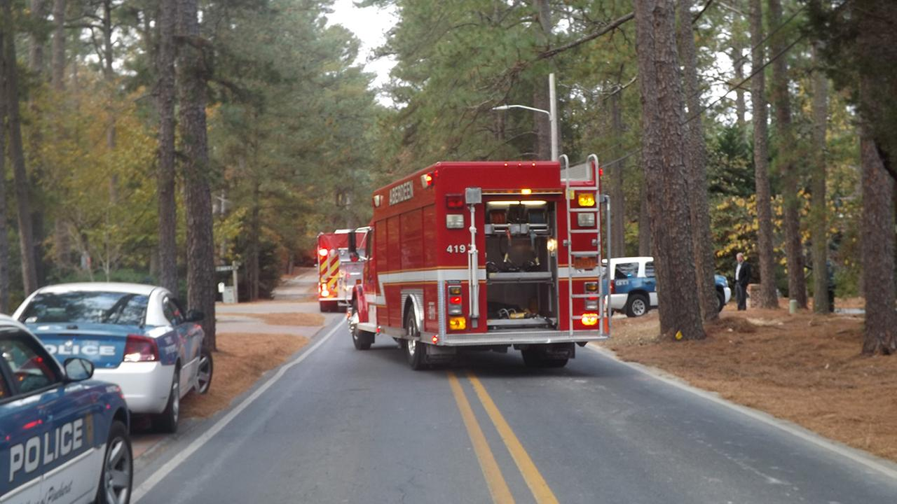 Emergency crews on Linden Road in Pinehurst