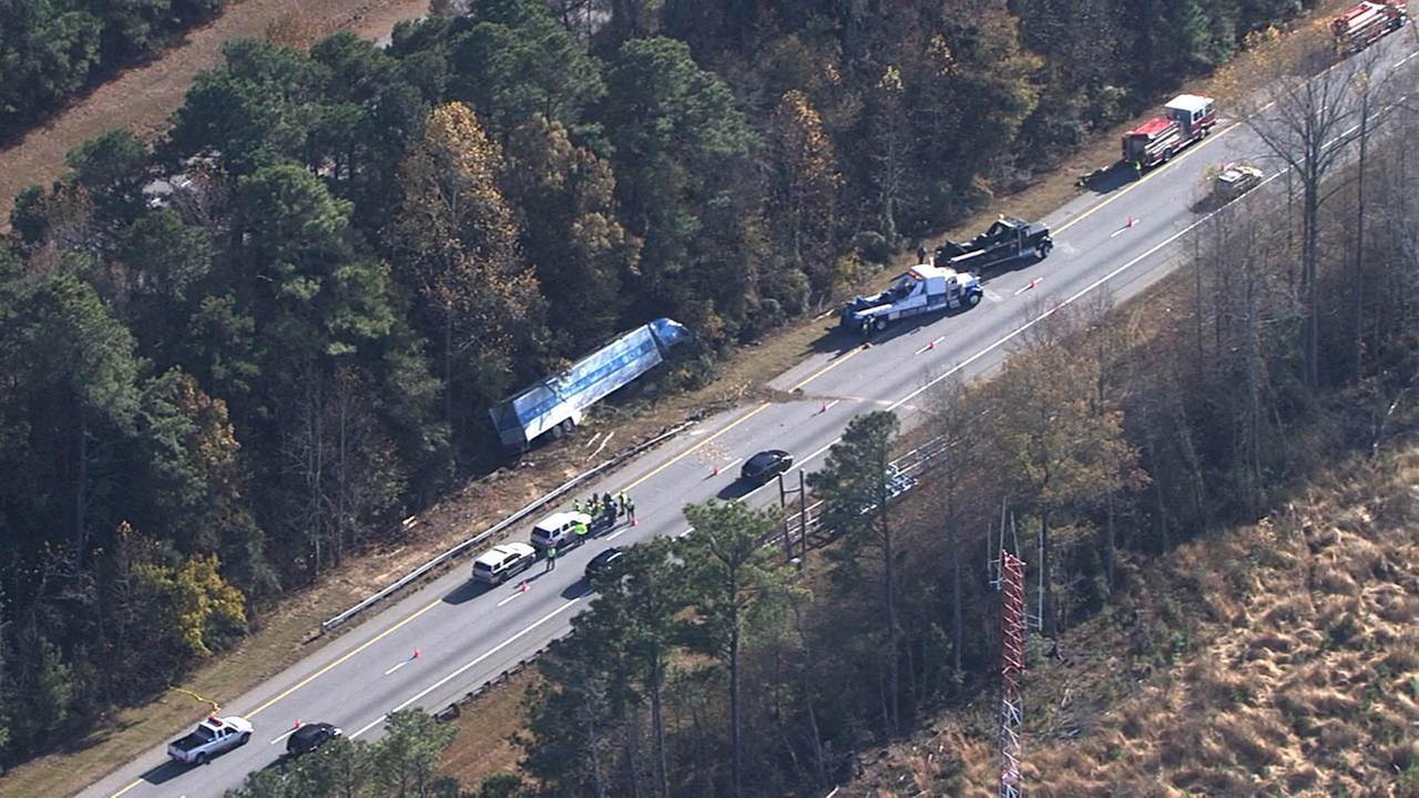 Chopper 11 HD over the scene of a crash on I-95 near MM 180