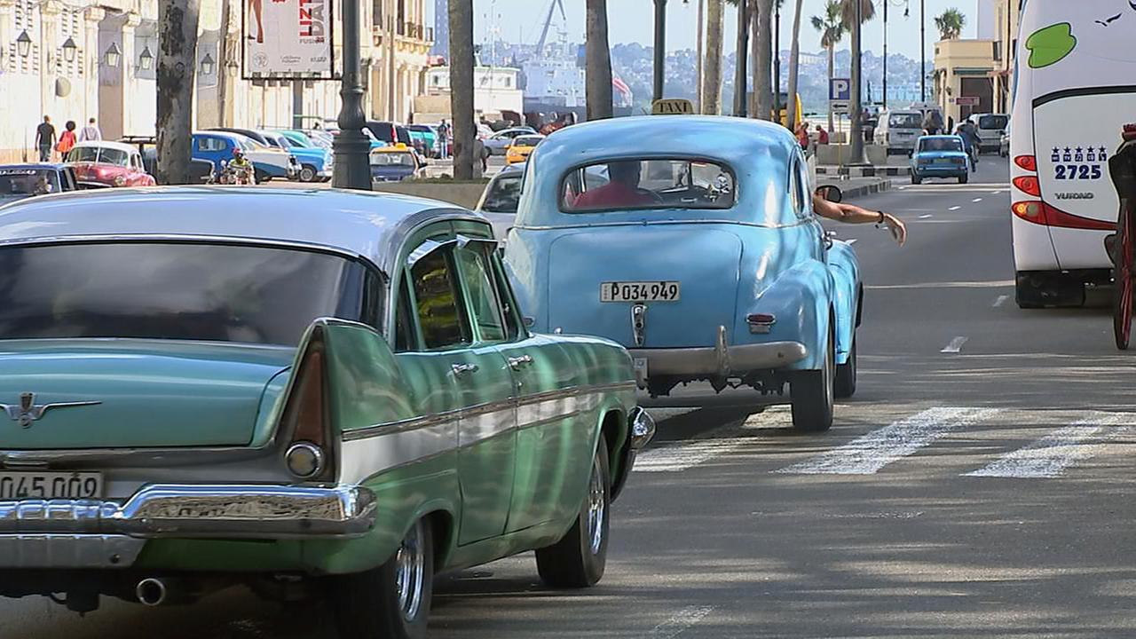A street scene in Havana.