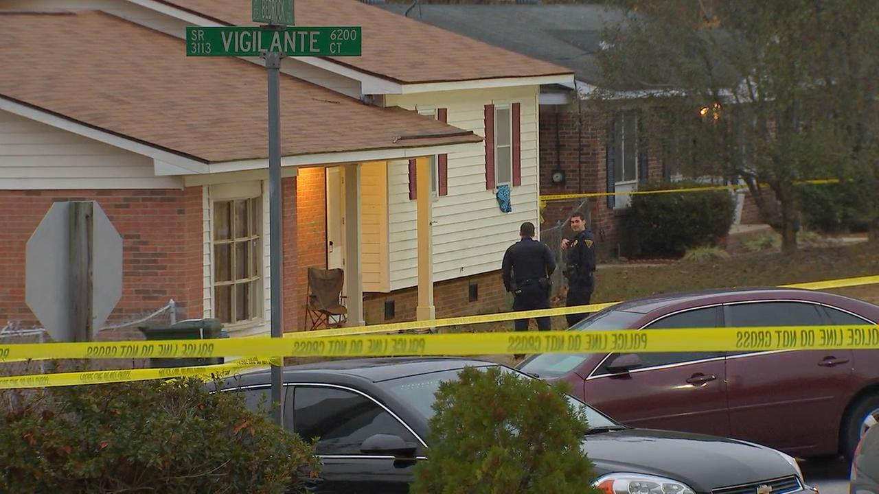 Fayetteville police investigate the scene of a fatal shooting, stabbing on Bedrock Drive