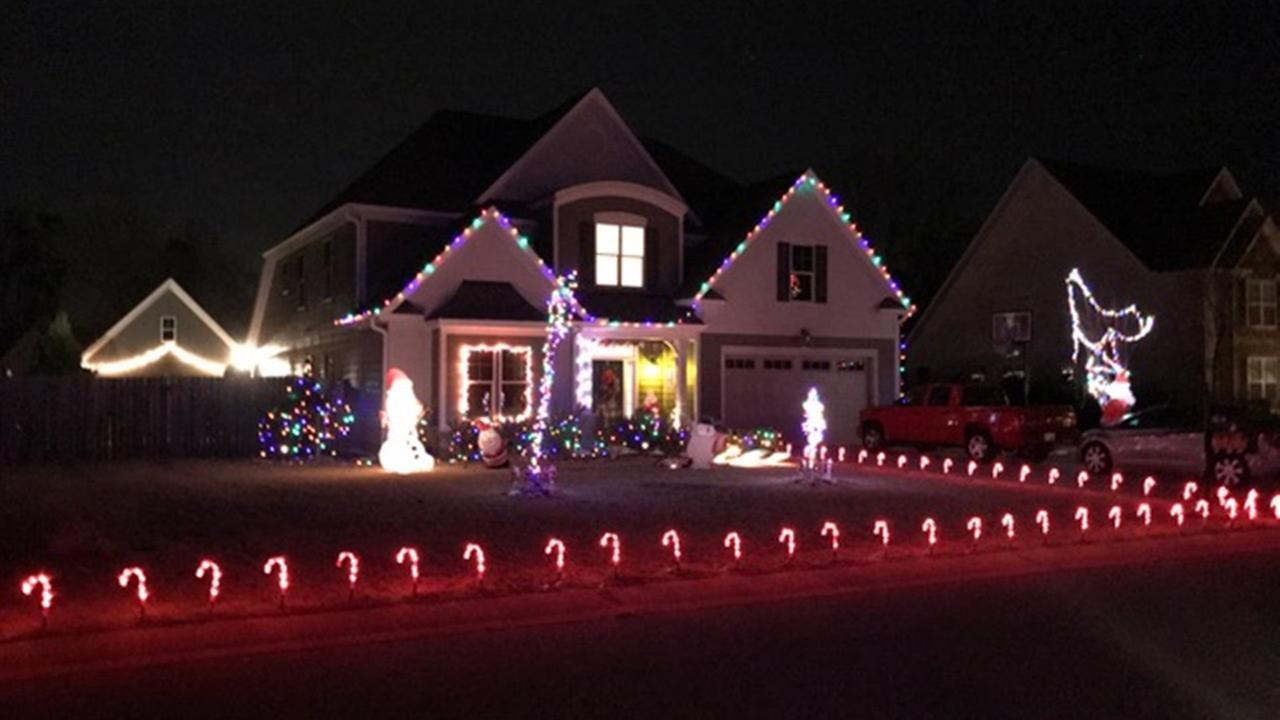 Holiday lights around the Triangle
