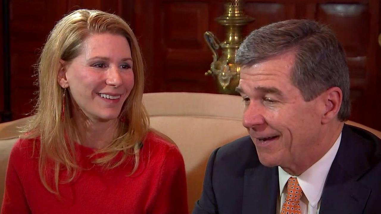 ABC11s Tisha Powell sits down with Gov. Roy Cooper and first lady Kristin Cooper