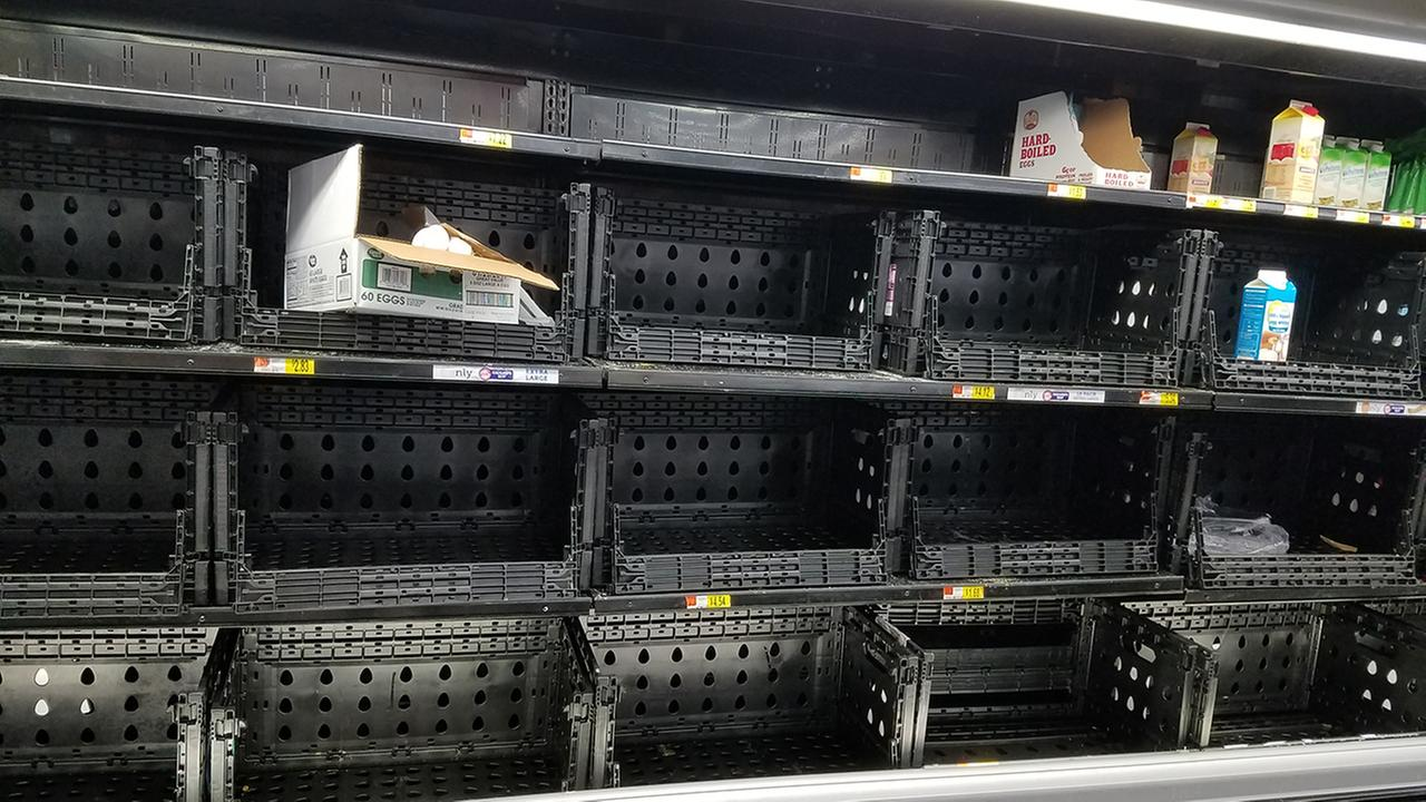 No eggs at a grocery store in RaleighMichelle Williams