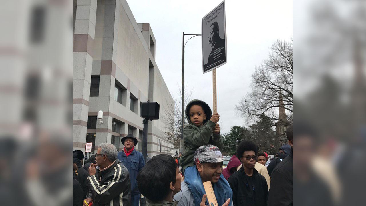 Hundreds of people gathered at the State Capitol ahead of MLK march through downtown Raleigh
