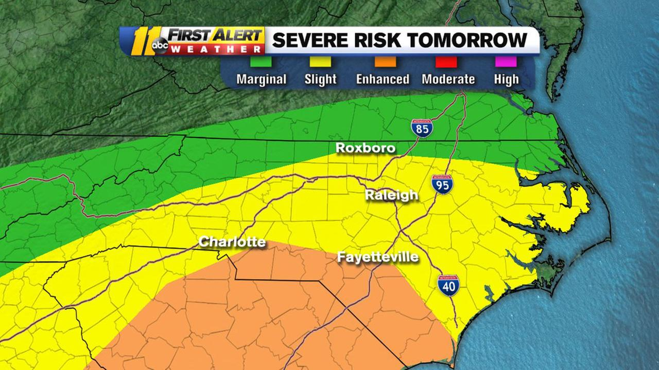 Severe storm risk for Sunday