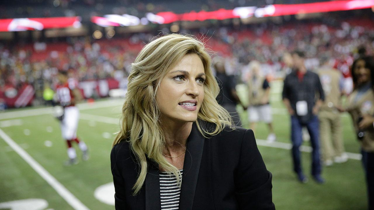 Erin Andrews after the second of an NFL football game on Oct. 30, 2016.